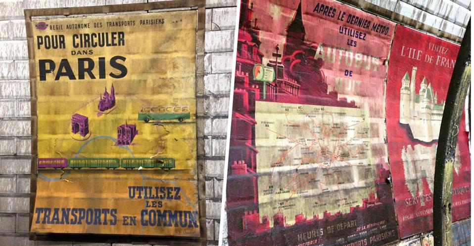 des travaux dans le m tro parisien r v lent de superbes affiches des ann es 50 librairie la bourse. Black Bedroom Furniture Sets. Home Design Ideas