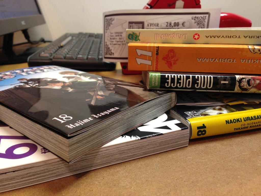 Achat de mangas librairie laboure