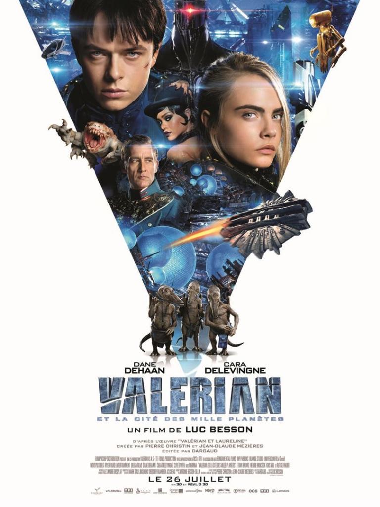 Valerian et la cité au mille planètes affiche